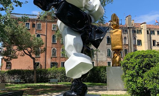 Laurence Jenkell's sculptures in Venice